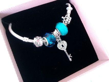 Blue Charm Bracelet Bangle