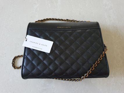 🚚 Charles & Keith Chain Handle Shoulder Sling Bag