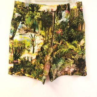 Carven green garden shorts size 34