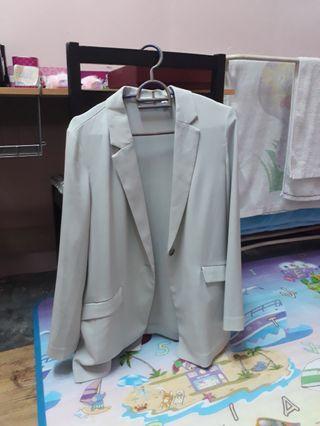 Uniqlo blazer (light grey)