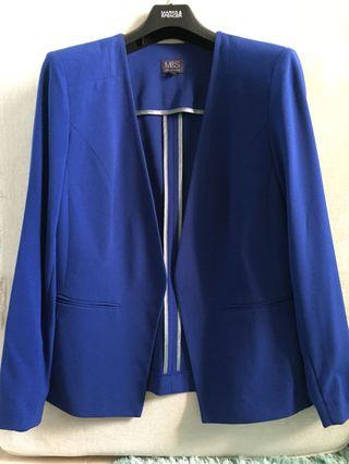 Marks & Spencer Blazer Cobalt Blue UK16 officewear