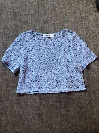 TEM Blue Laced Sleeved Top