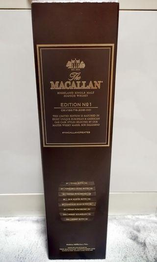 Macallan Edition 1 Empty Box