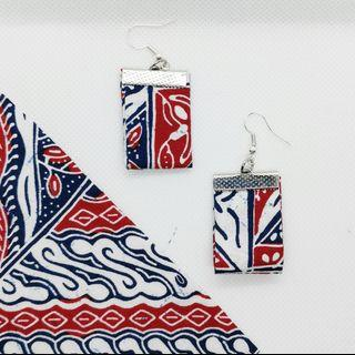 Batik chicklets earrings