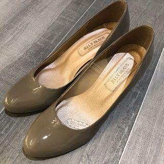 全新100%日本🇯🇵Jelly Beans 卡其色高踭鞋