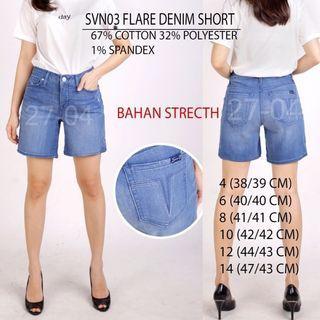 Branded Seven7 Flare Denim Short