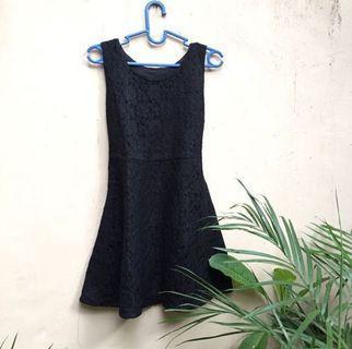 brokat black dress / laces