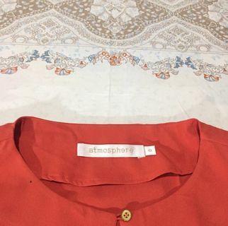 atmosphere orange blouse