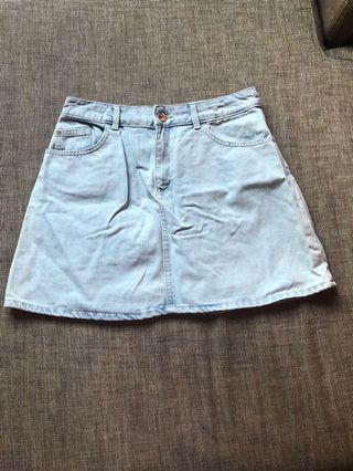 H&M Light Denim Skirt