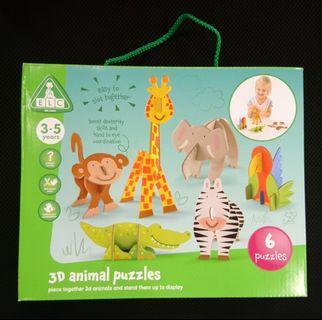 ELC 3D Animal Puzzles 兒童 玩具 禮物 紙卡 動物立體拼圖 拼圖 Kids Toy Gift