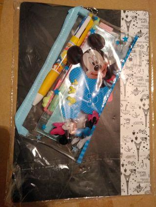 New Mickey stationery set and note book新米奇文具套裝,新notebook