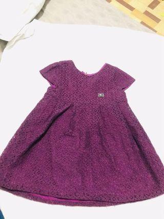 BURBERRY LACE DRESS - Girls Apparel (1-3YO)