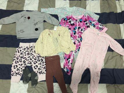 Warm clothes for 6-12 m