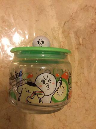 7-11玻璃樽 line friends moon 果汁玻璃樽