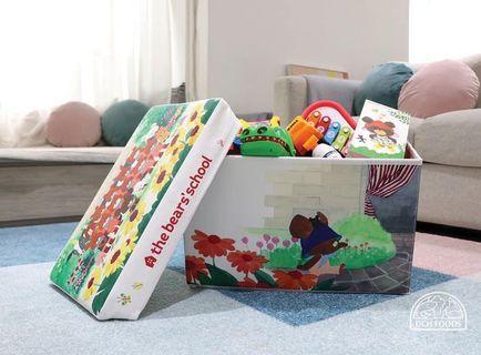 The bears' school PVC 跣水皮面 儲物及座椅兩用