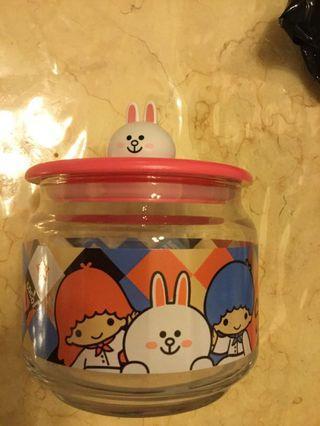 7-11玻璃樽 line friends cony 零食玻璃樽