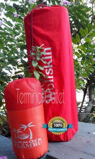 Paket Matras Alumunium Foil + Hammock Kelambu