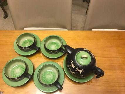 9 Pcs- Porcelain Tea Pot Set