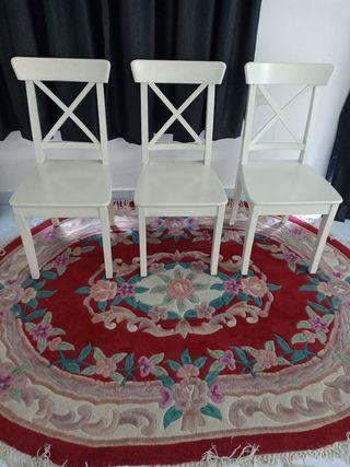 3 Ikea ingolf chairs in 300 rm