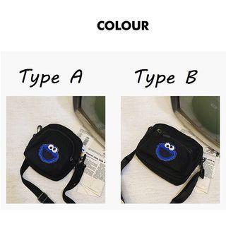 Sesame Street Shoulder Sling Bag • Black