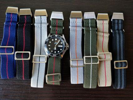 MN strap/NDC strap 20mm & 22mm suitable for skx, steinhart , diver watches, omega, Rolex, Dan henry, submariner, Seiko, citizen,skx007, skx009,Seiko turtle, Seiko tuna, Seiko samurai, speedmaster , pelagos, blackbay , sea urchin and other models