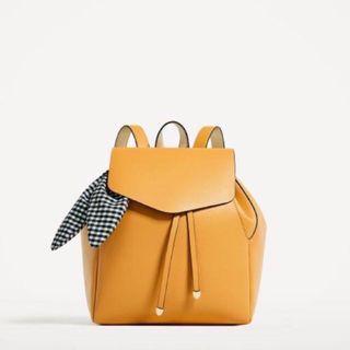 🚚 ZARA Mustard Yellow Backpack