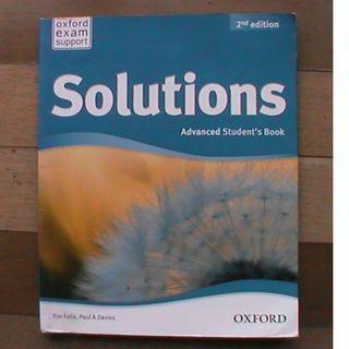 """Buku Bahasa Inggris : """"Solutions"""", Advances Student's Book"""