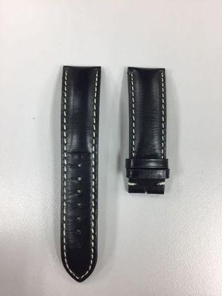 22mm Black Leather Strap