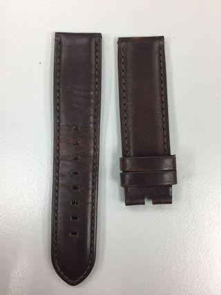 22mm Burgundy / Dark Reddish Brown Horween Leather Strap