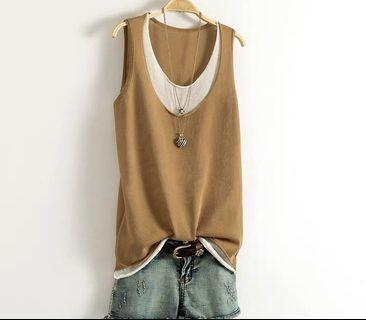 (C1008068) 新款 時尚 百搭 針織 女裝 背心