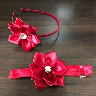Baby Girl Headband / girls headbands / sisters headbands / sibling headbands / matching headbands / red headbands