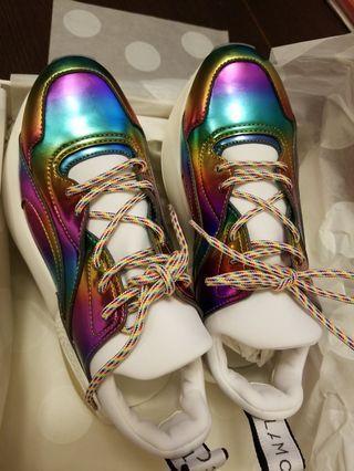 Stella Mccartney Metallic Rainbow Sneakers 37