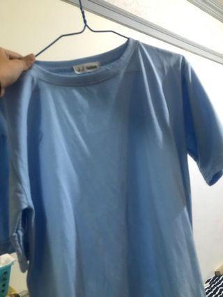🚚 藍色素T #轉轉背肩包