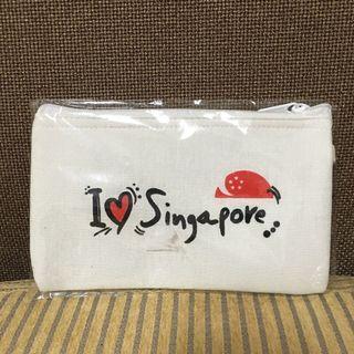 棉麻新加坡化粧包*2個