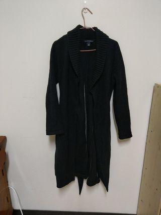 Banana Republic純羊毛黑色大衣