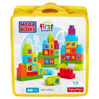 Mega Bloks First Builders ABC SPELL 40 PCS