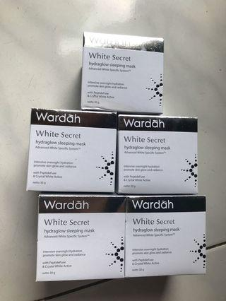 Hydraglow sleeping mask wardah white secret