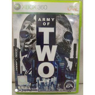 Xbox 360 video game Army of Two. shooter. coop. shooting.