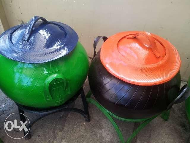 Garbage Bins Made of Recycled Rubber Tires Different Sizes and