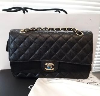 Chanel Classic Flap in black caviar with gold hardware