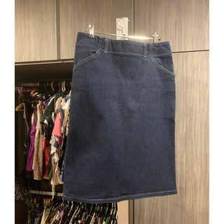 🚚 David Lawrence Denim Skirt Blue (Excellent Condition)