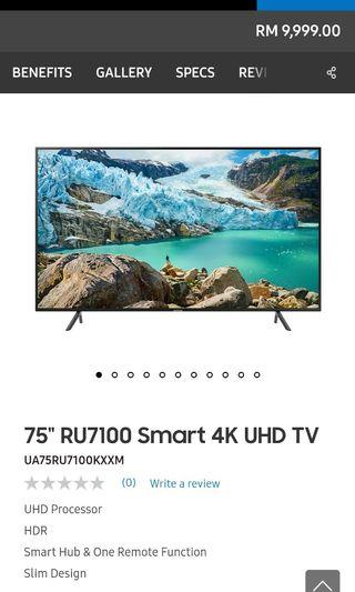 "TV Samsung 75"" NEW 2019"
