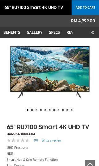 """65"""" Samsung SmartTV 2019"""