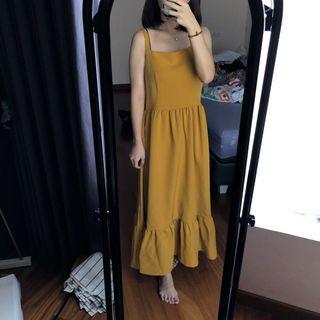 Cloth Inc Sunny Dress in Mustard #belanjabulanan