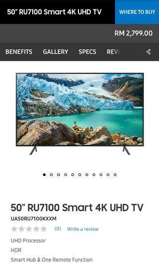 """Samsung 50"""" SmartTV"""