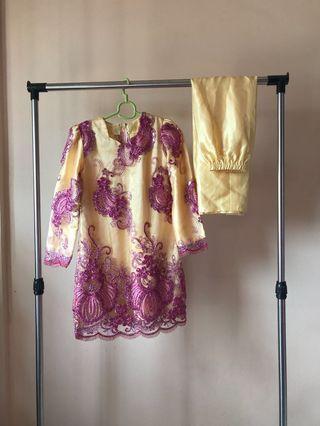 Yellow Baju Kurung / traditional / 2 sets