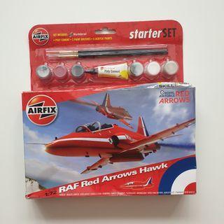 Airfix RAF Red Arrows Hawk Plane DIY Model Starter Set A55202 Scale 1:72