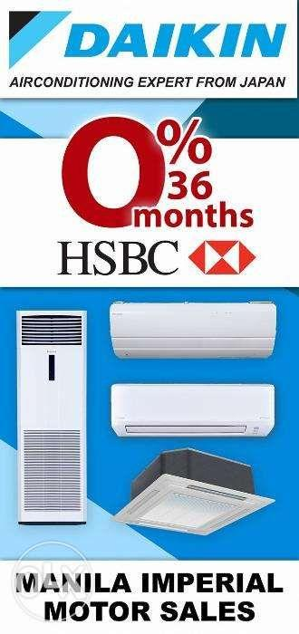 Daikin Floor Mounted Aircon at Zero Interest 24 and 36 months for