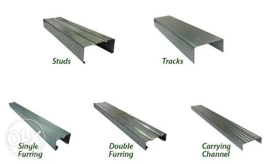 Metal Furring Studs Wall Angle Carrying Channel Tracks