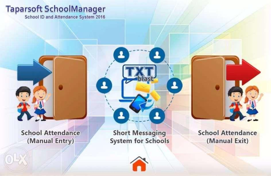 School RFID Attendance System with SMS Enrollment and